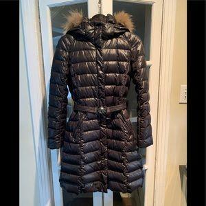 MaxMara Weekend black long puffer coat. Size 6